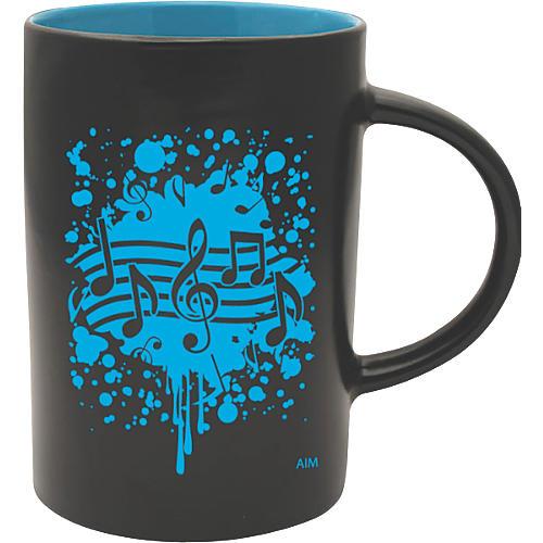AIM Musical Note Burst Black/Blue Caf Mug thumbnail