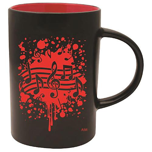 AIM Musical Note Burst Black/Red Caf Mug thumbnail