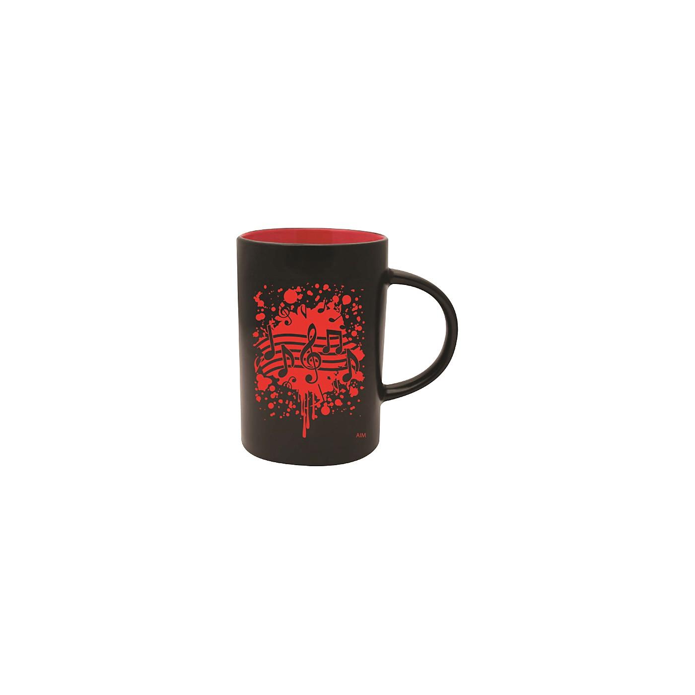 AIM Musical Note Burst Black/Red Coffee Mug thumbnail