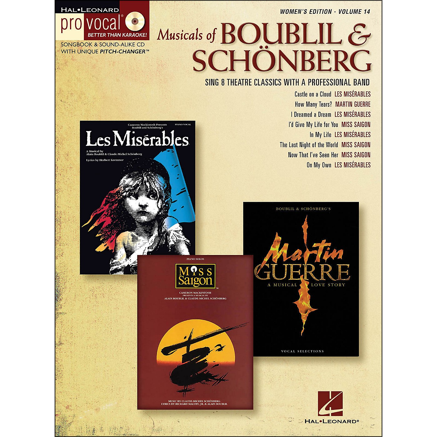 Hal Leonard Musicals Of Boublil & Schonberg - Pro Vocal Series Women's Edition Volume 14 Book/CD thumbnail