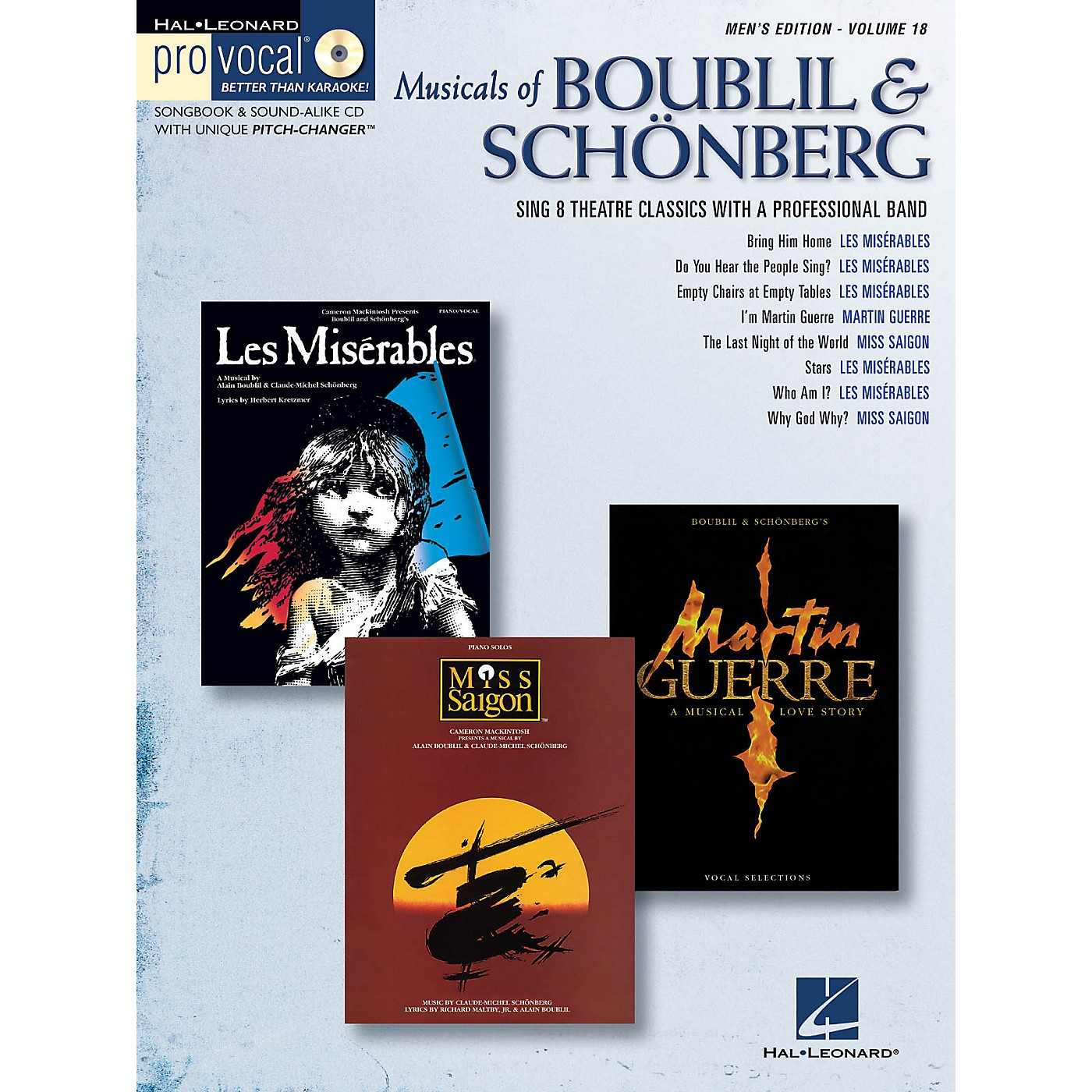 Hal Leonard Musicals of Boublil & Schonberg Pro Vocal Series Softcover with CD Composed by Alain Boublil thumbnail