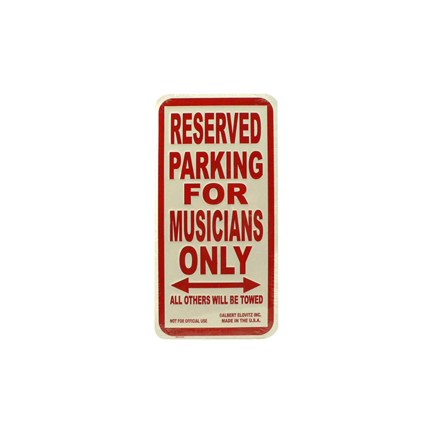 AIM Musicians Only Metal Sign thumbnail