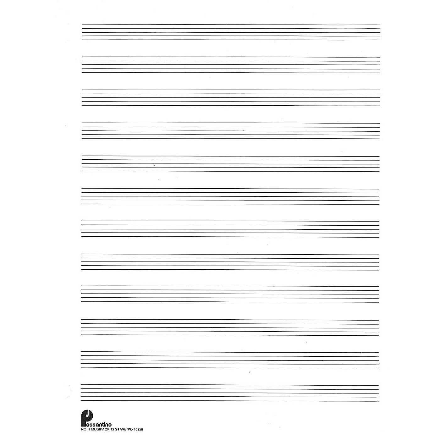 Music Sales Musipack 3 Ring Filler No. 1: 12-stave (Passantino Manuscript Paper) Music Sales America Series thumbnail