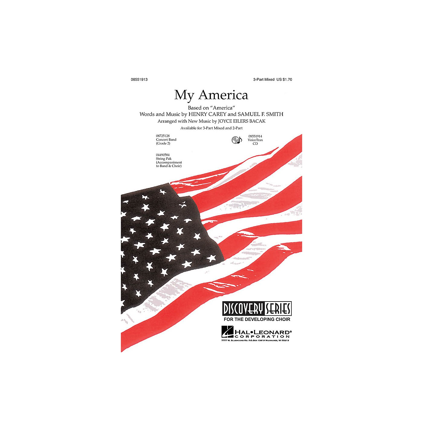Hal Leonard My America 3-Part Mixed composed by Joyce Eilers thumbnail