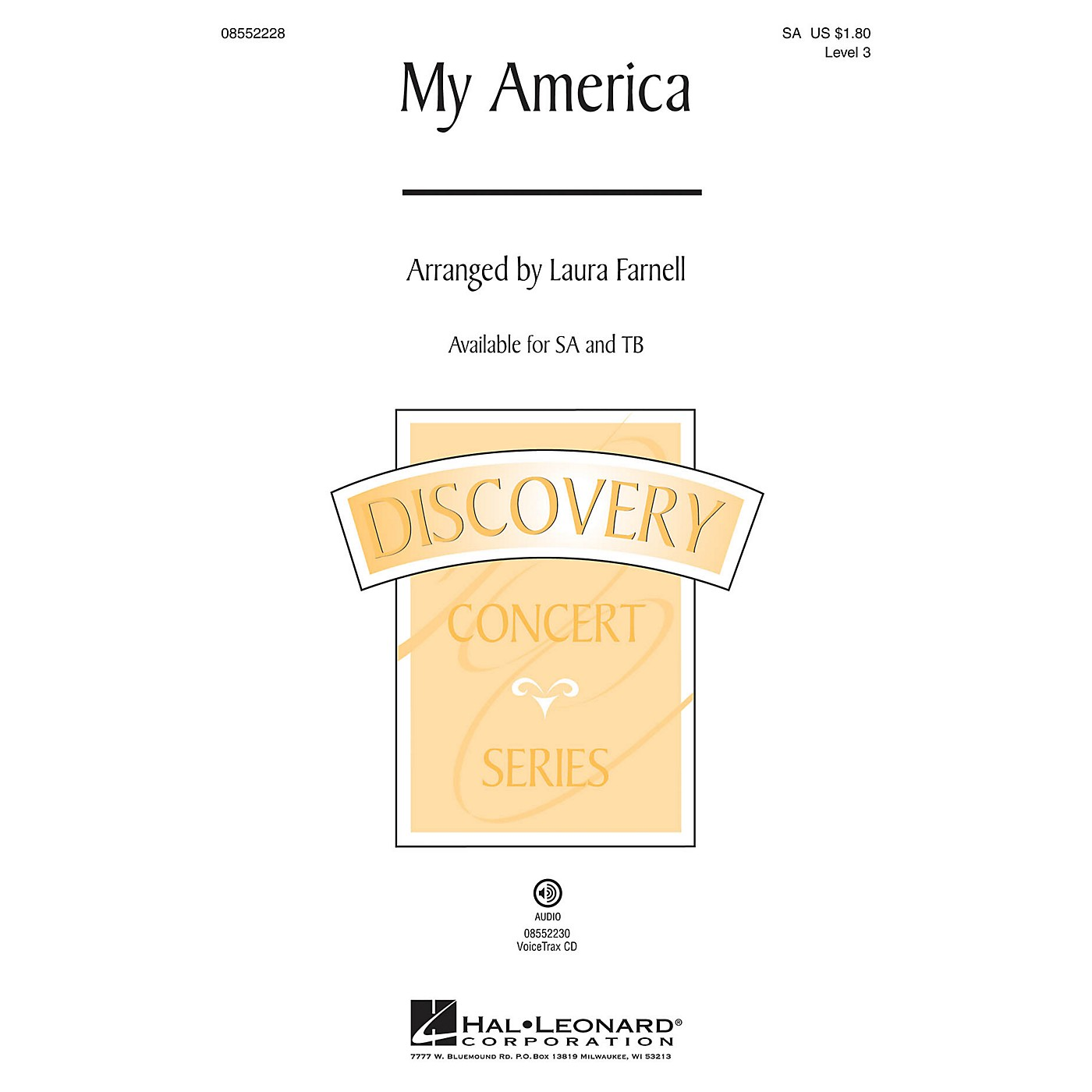 Hal Leonard My America (Choral Medley) Discovery Level 3 TB Arranged by Laura Farnell thumbnail