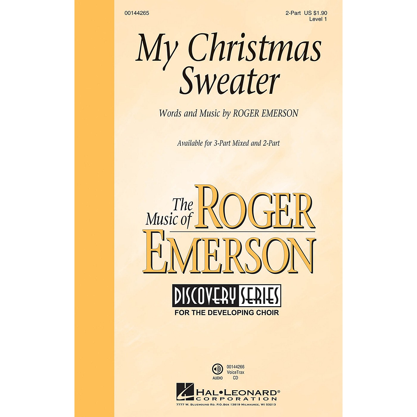 Hal Leonard My Christmas Sweater (Discovery Level 1) 2-Part composed by Roger Emerson thumbnail