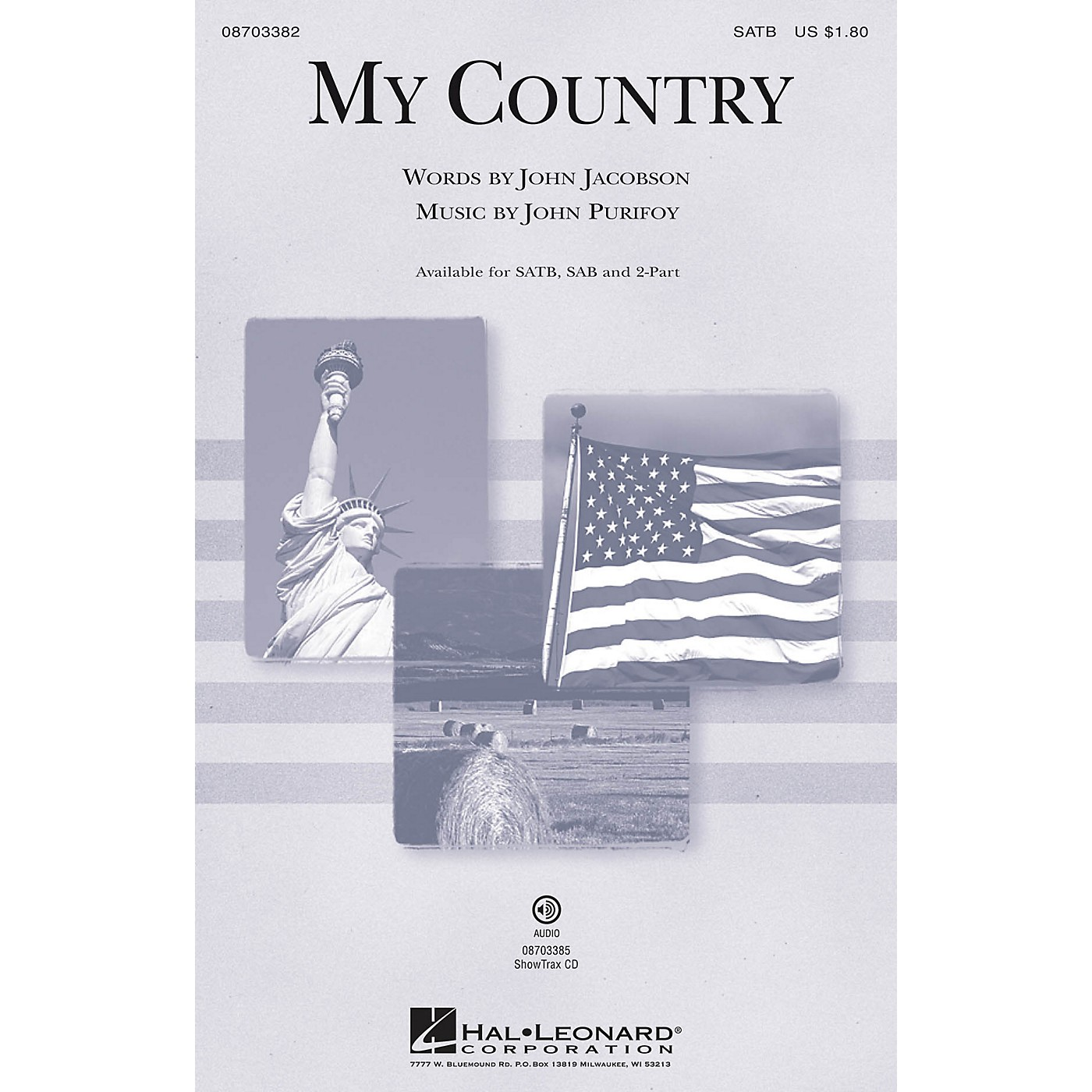Hal Leonard My Country ShowTrax CD Composed by John Purifoy thumbnail