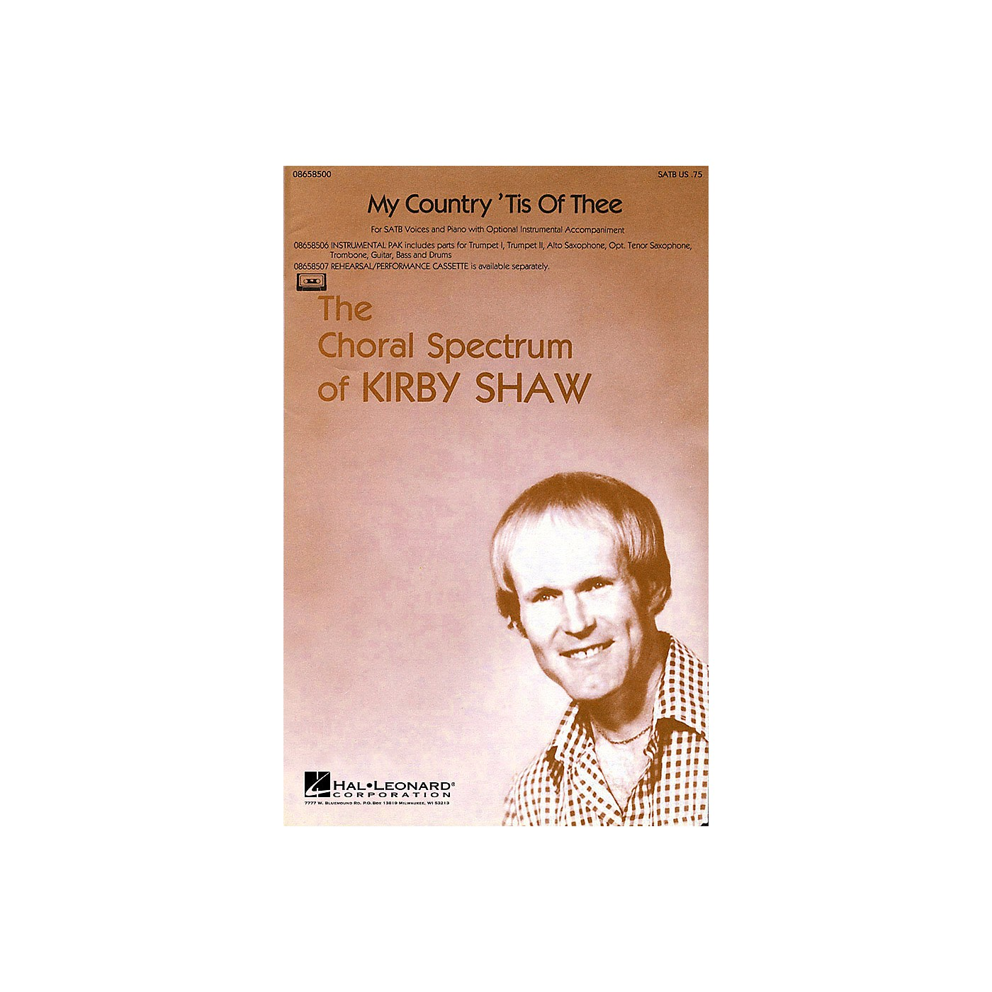 Hal Leonard My Country 'Tis of Thee SATB arranged by Kirby Shaw thumbnail