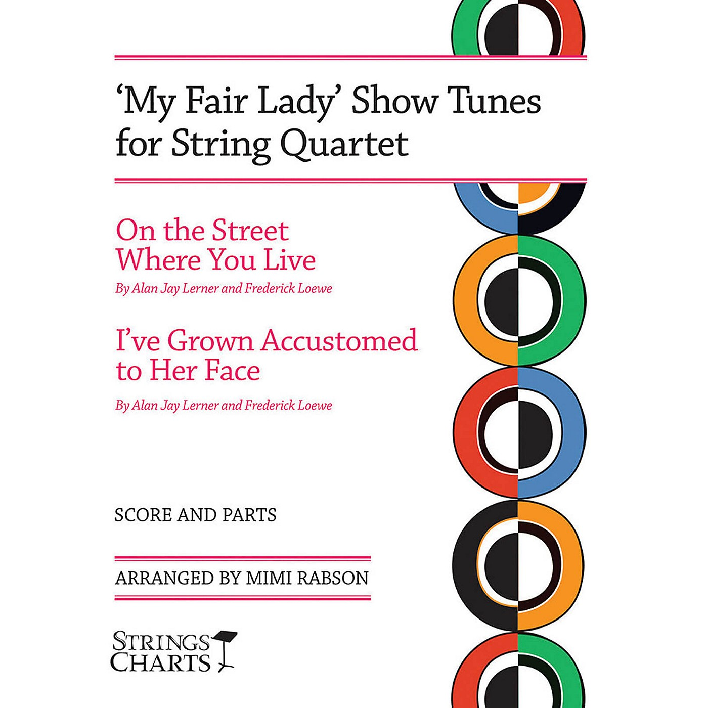 String Letter Publishing My Fair Lady Show Tunes for String Quartet String Letter Publishing Series Softcover by Mimi Rabson thumbnail