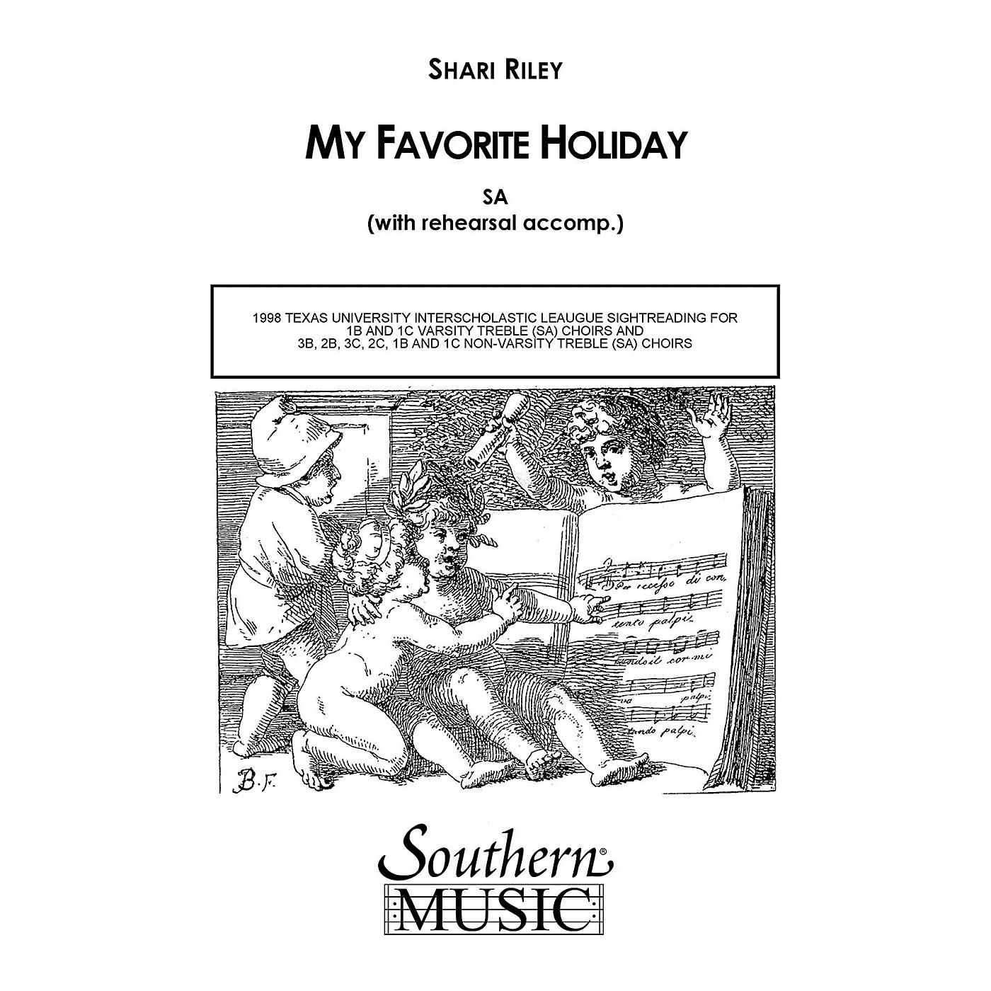 Hal Leonard My Favorite Holiday (Choral Music/Octavo Secular Sa) SA Composed by Riley, Shari thumbnail