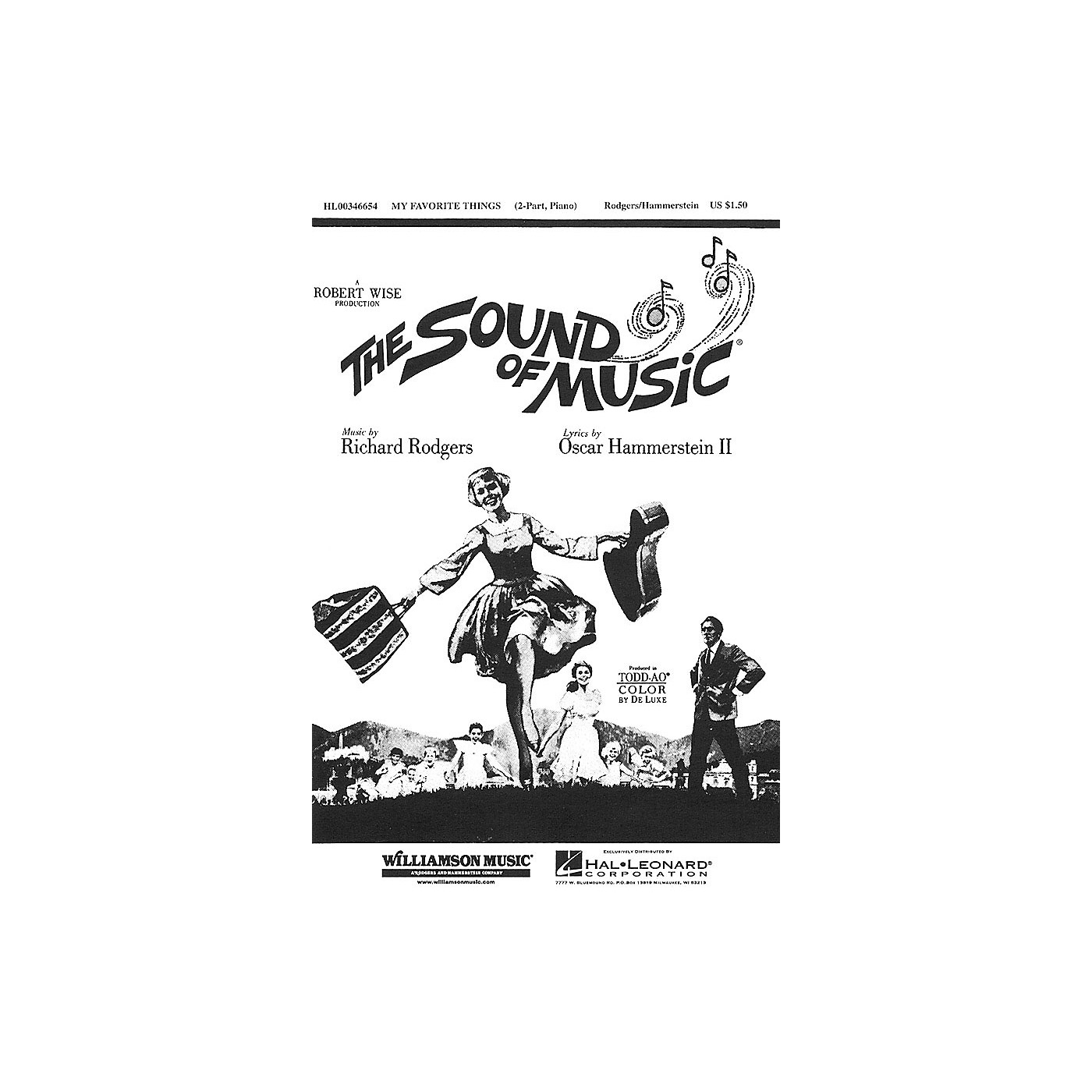 Hal Leonard My Favorite Things (from The Sound of Music) (2-Part and Piano) 2-Part arranged by Clay Warnick thumbnail