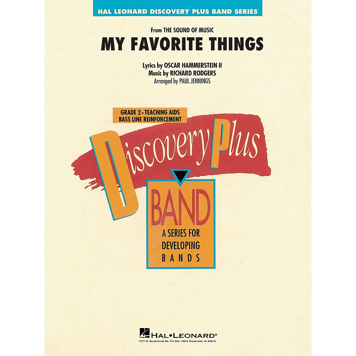 Hal Leonard My Favorite Things (from The Sound of Music) Concert Band Level 2 Arranged by Paul Jennings thumbnail