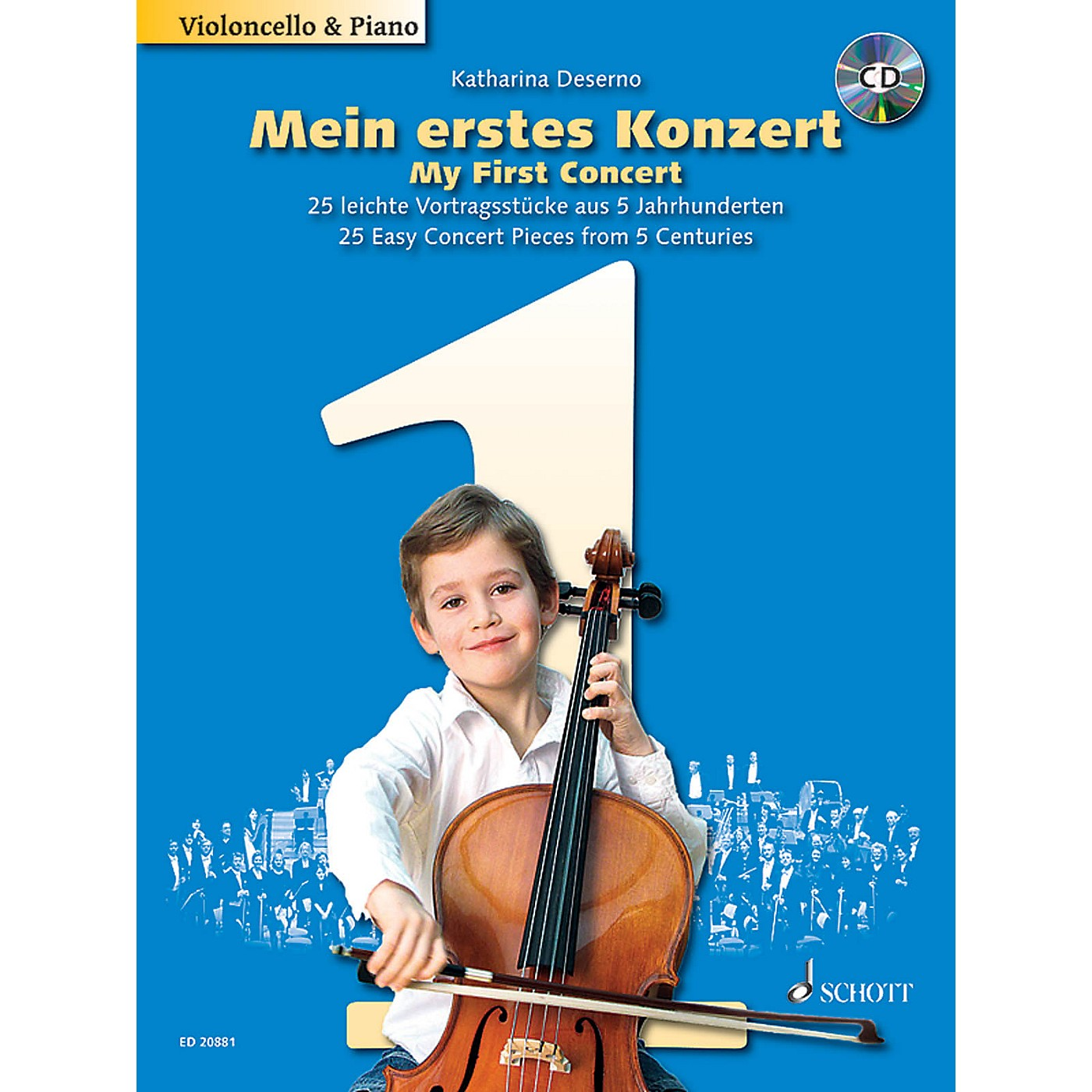 Schott My First Concert (25 Concert Pieces from 5 Centuries for Cello and Piano) Schott Series Softcover with CD thumbnail