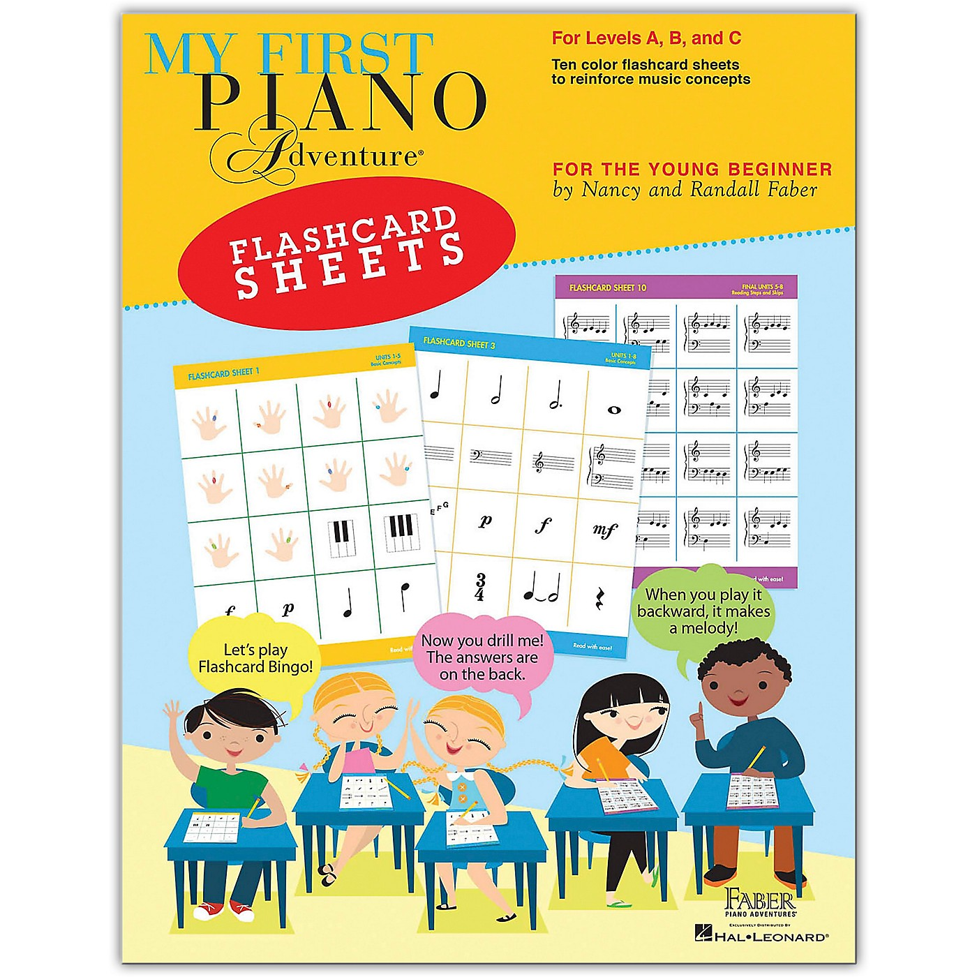 Faber Piano Adventures My First Piano Adventure Flashcard Sheets - For the Young Beginner thumbnail