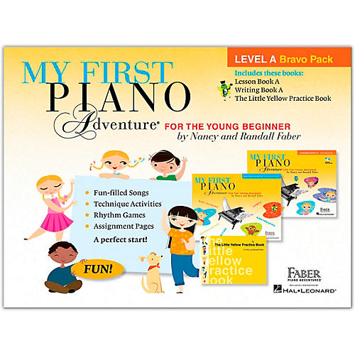 Faber Piano Adventures My First Piano Adventure Level A Bravo Pack - For The Young Beginner thumbnail