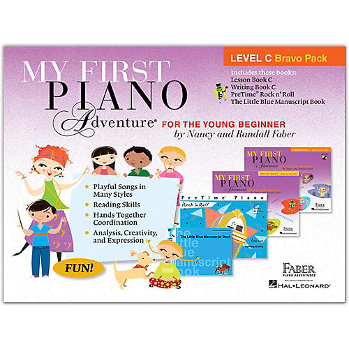Faber Piano Adventures My First Piano Adventure Level C Bravo Pack - For The Young Beginner thumbnail