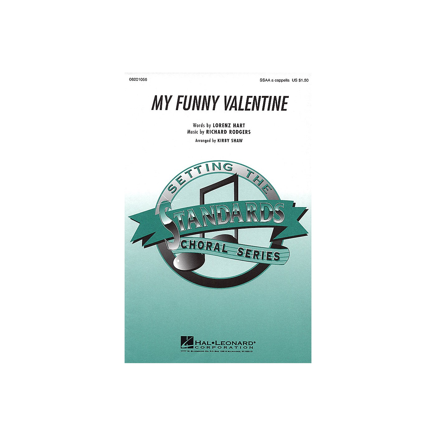 Hal Leonard My Funny Valentine SSAA A Cappella arranged by Kirby Shaw thumbnail