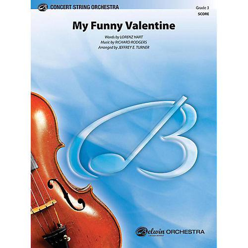 Alfred My Funny Valentine String Orchestra Grade 3 thumbnail