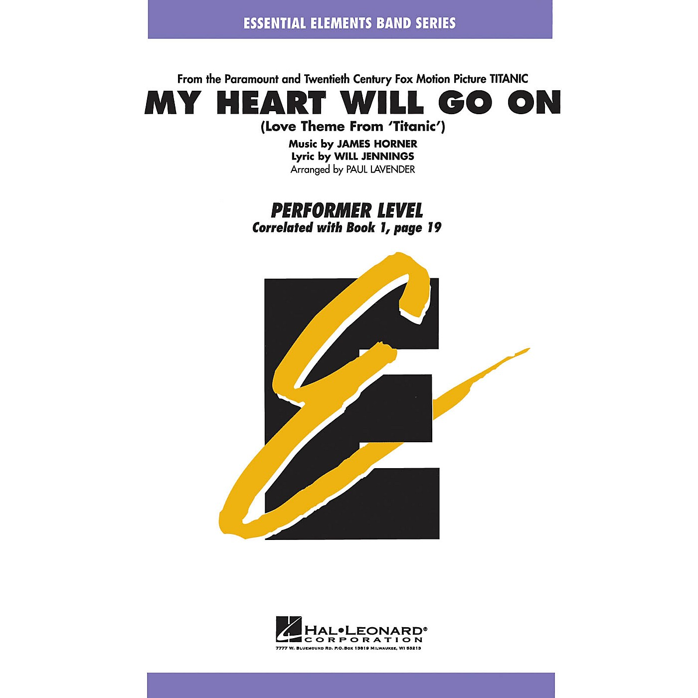 Hal Leonard My Heart Will Go On (Love Theme from Titanic) Concert Band Level .5 to 1 Arranged by Paul Lavender thumbnail