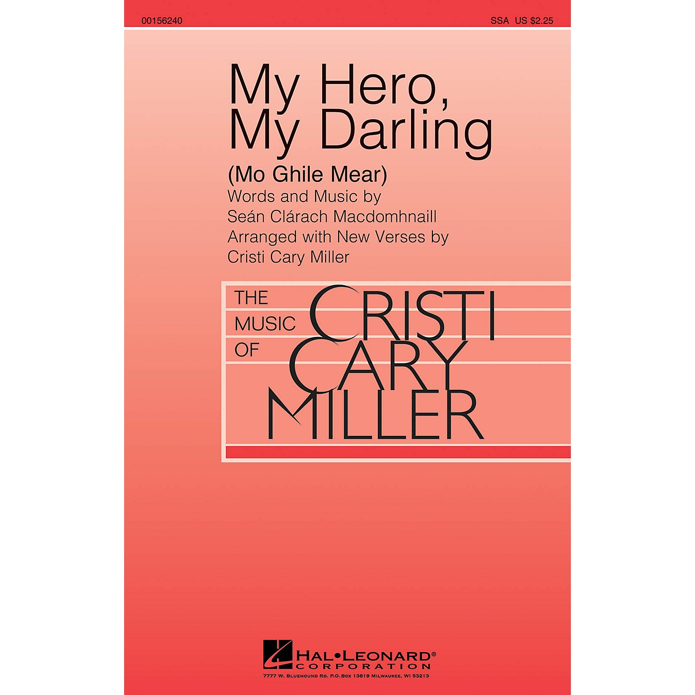Hal Leonard My Hero, My Darling (Mo Ghile Mear) SSA arranged by Cristi Cary Miller thumbnail