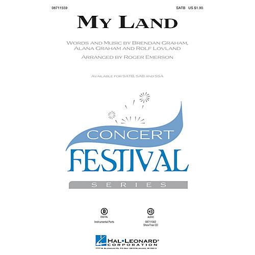 Hal Leonard My Land SATB arranged by Roger Emerson thumbnail