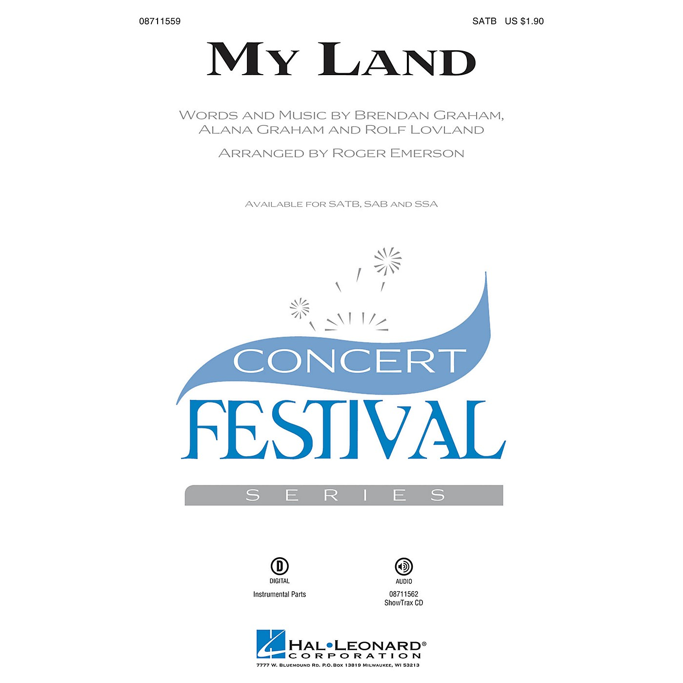 Hal Leonard My Land SSA Arranged by Roger Emerson thumbnail