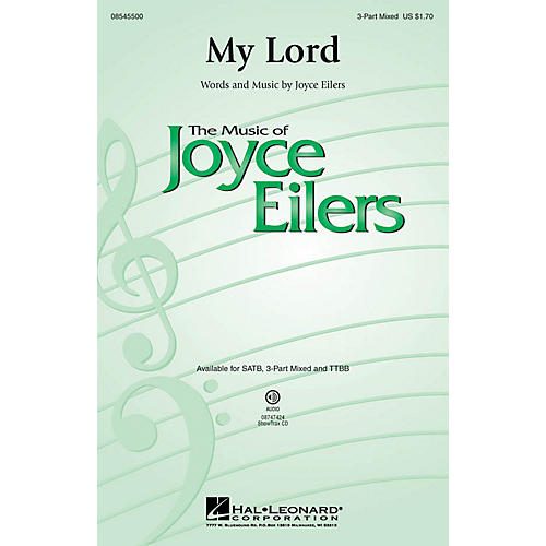 Hal Leonard My Lord 3-Part Mixed composed by Joyce Eilers thumbnail