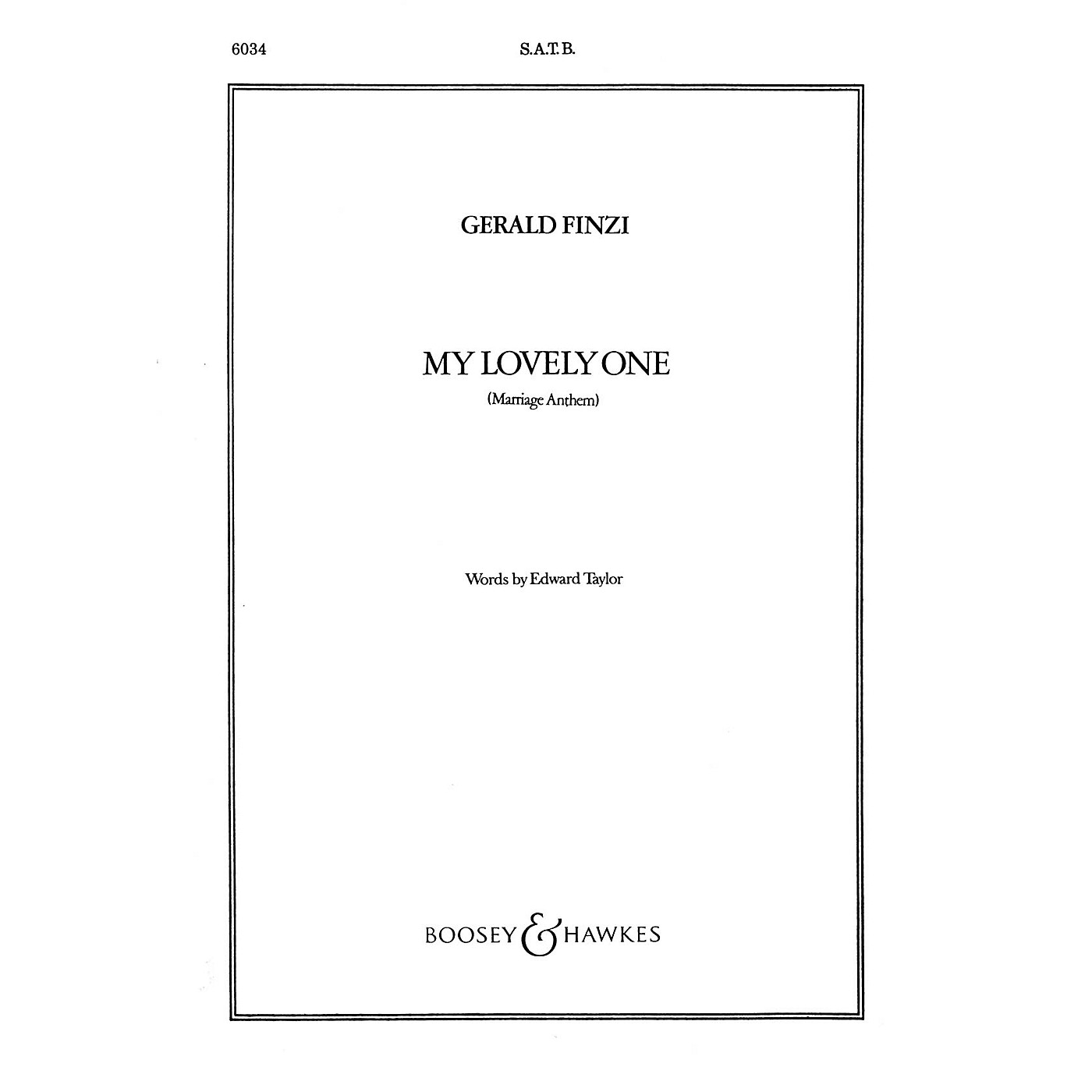 Boosey and Hawkes My Lovely One (Marriage Anthem) SATB Divisi composed by Gerald Finzi thumbnail