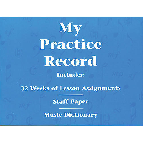 Hal Leonard My Practice Record Book - Includes 32 weeks of lesson assignments and a music dictionary thumbnail