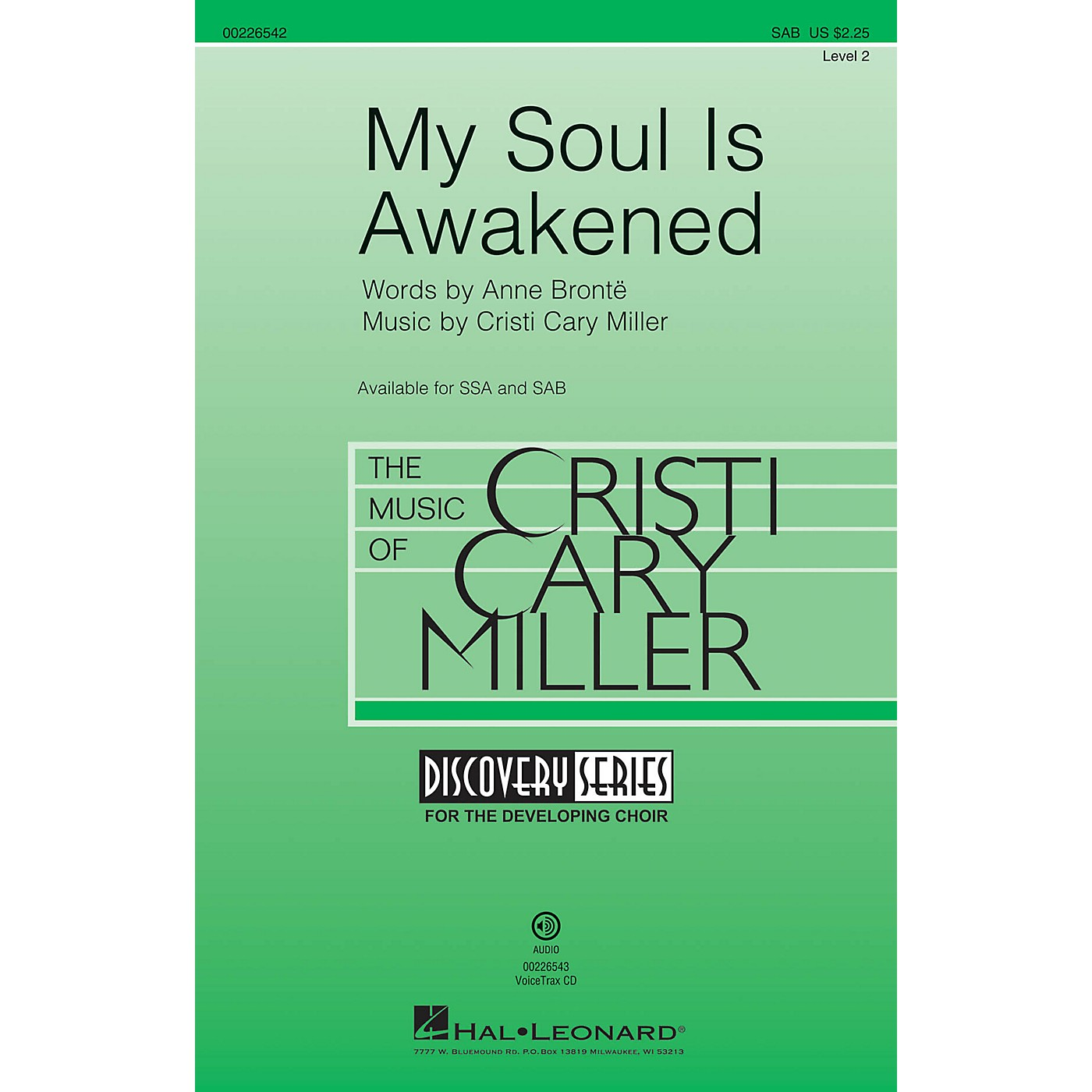 Hal Leonard My Soul Is Awakened (Discovery Level 2) SAB composed by Cristi Cary Miller thumbnail