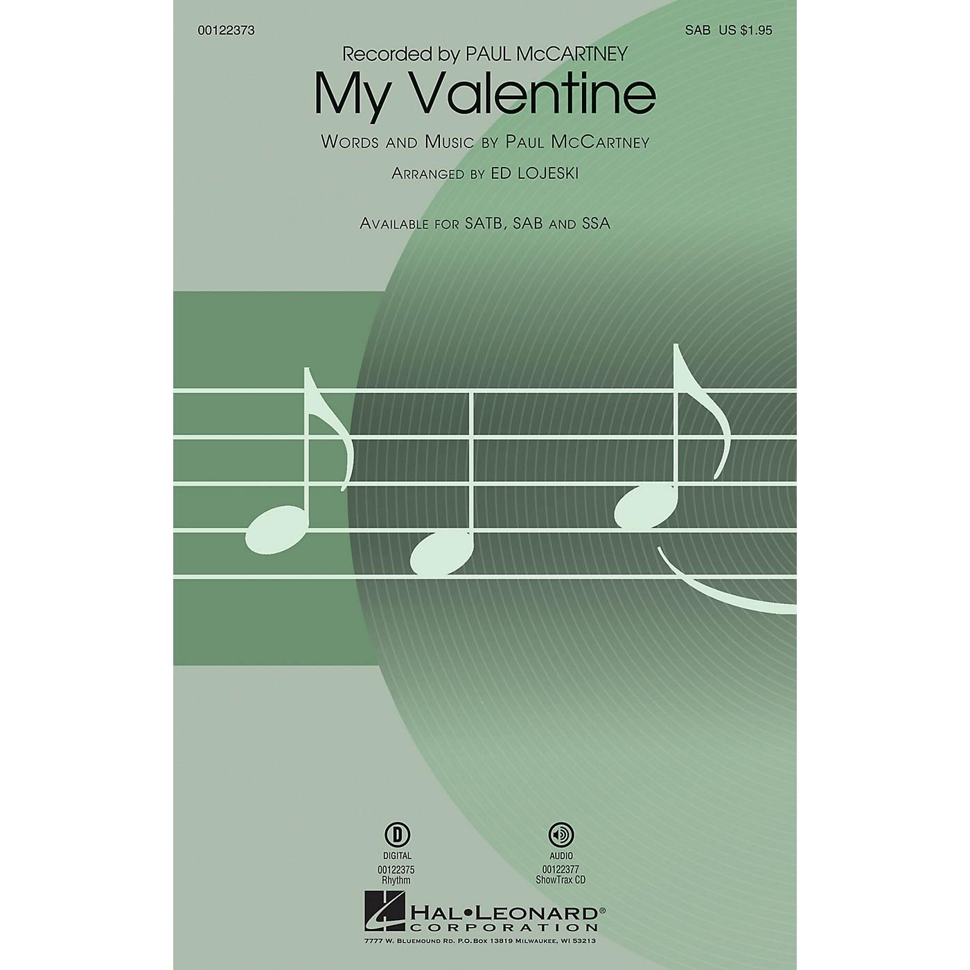Hal Leonard My Valentine SAB arranged by Ed Lojeski thumbnail