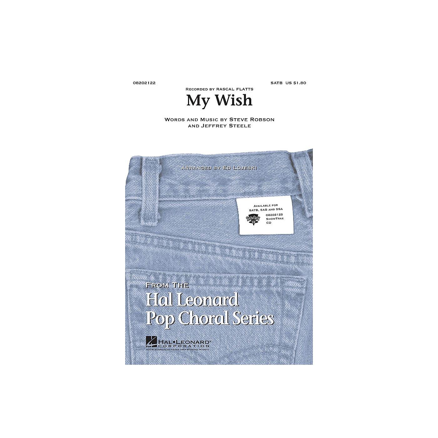 Hal Leonard My Wish SAB by Rascal Flatts Arranged by Ed Lojeski thumbnail