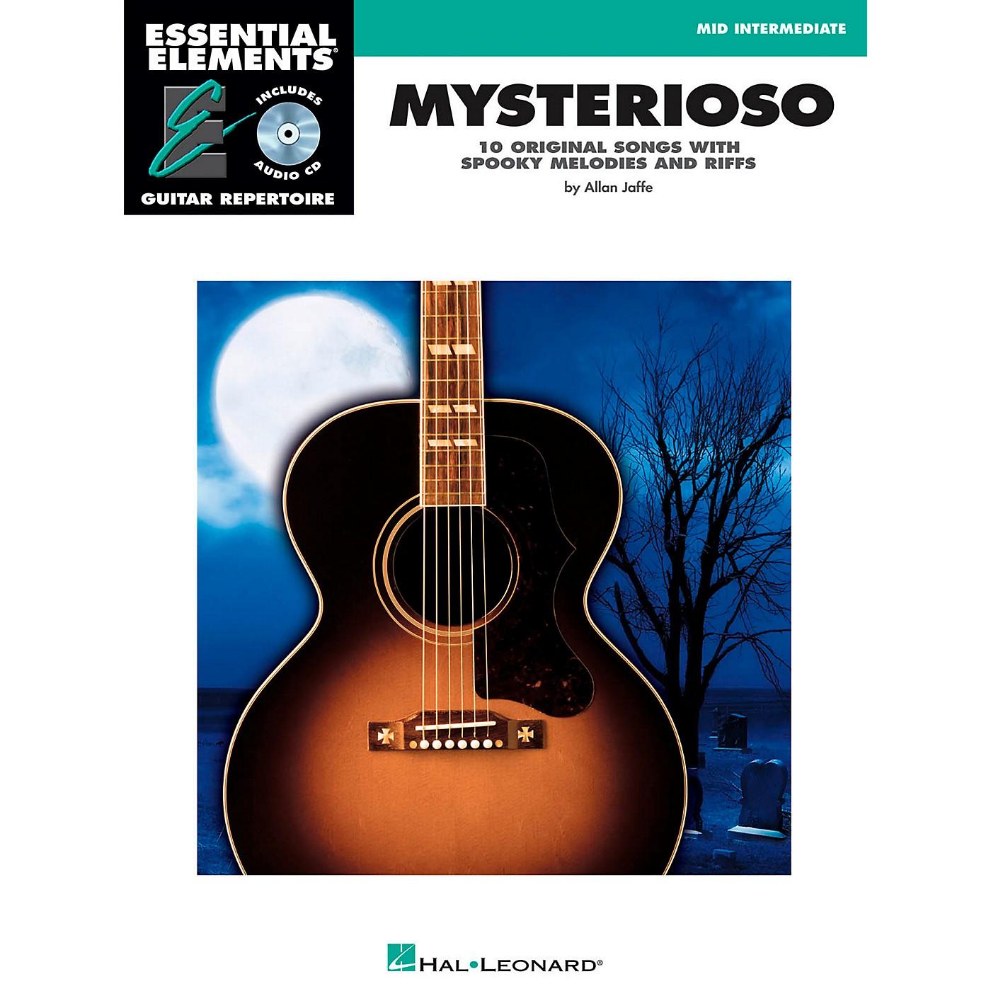 Hal Leonard Mysterioso - Mid Intermediate Essential Elements Guitar Repertoire Book/CD thumbnail
