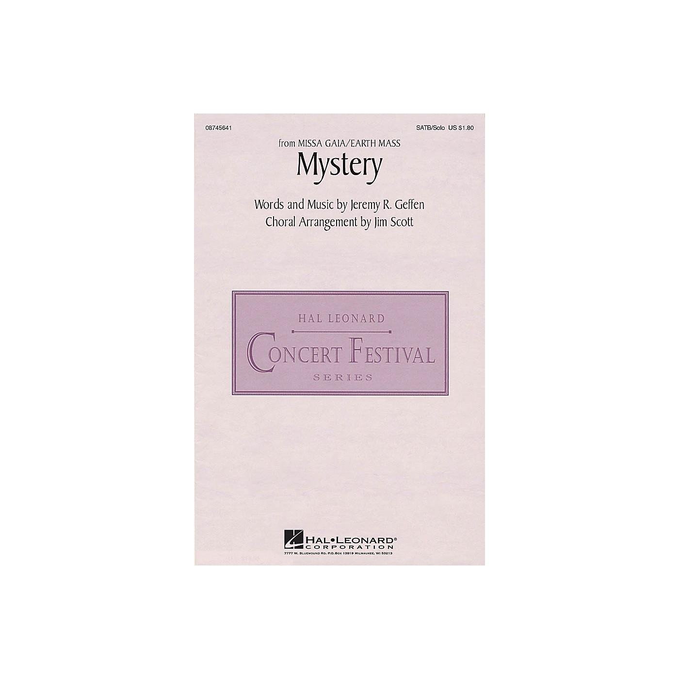 Hal Leonard Mystery (from Missa Gaia/Earth Mass) SATB Chorus and Solo arranged by Jim Scott thumbnail