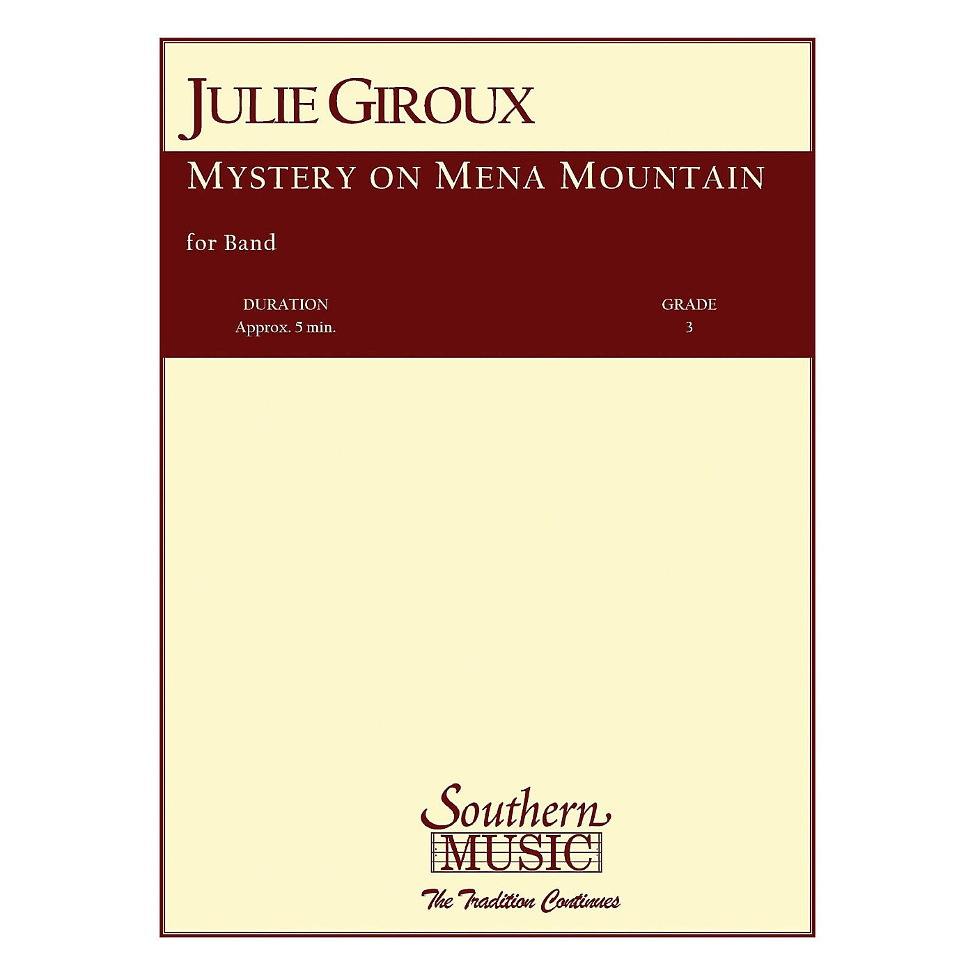 Southern Mystery on Mena Mountain Concert Band Level 3 Composed by Julie Giroux thumbnail