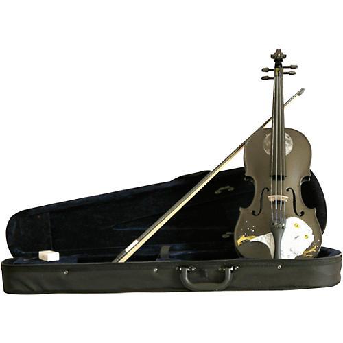 Rozanna's Violins Mystic Owl Black Glitter Series Violin Outfit thumbnail