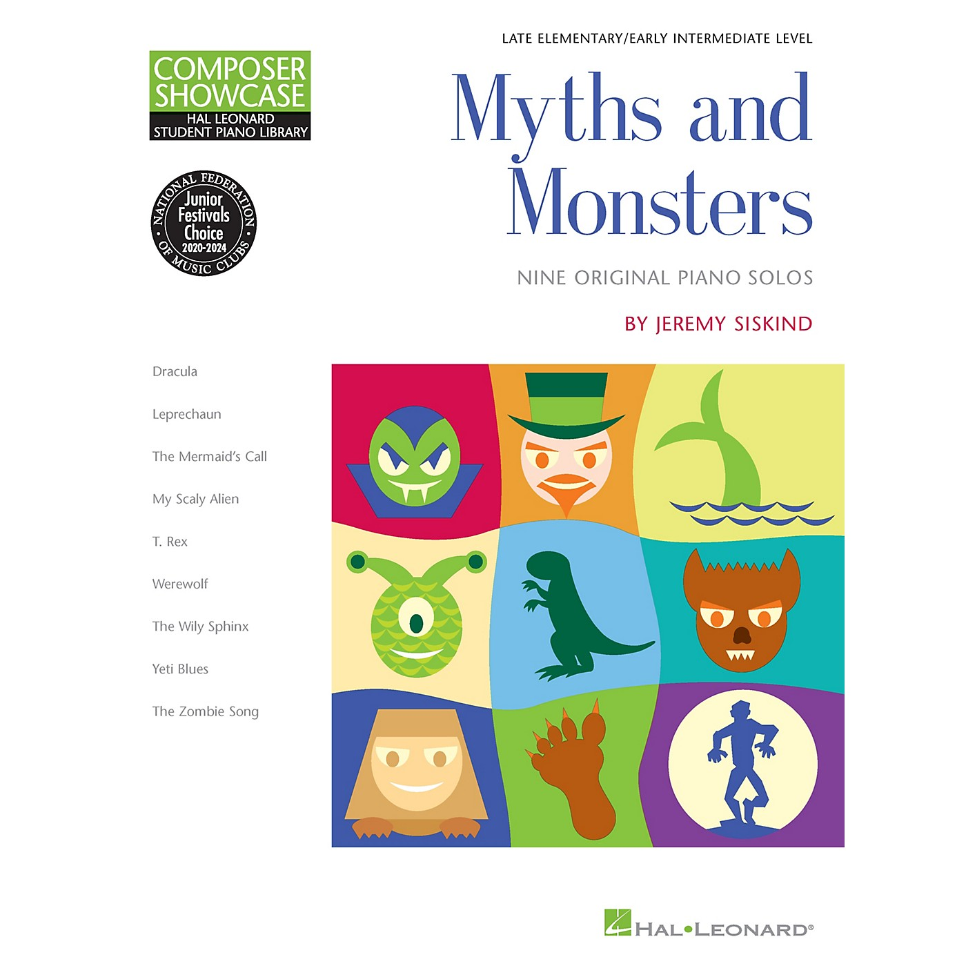 Hal Leonard Myths and Monsters Piano Library Series Book by Jeremy Siskind (Level Late Elem) thumbnail