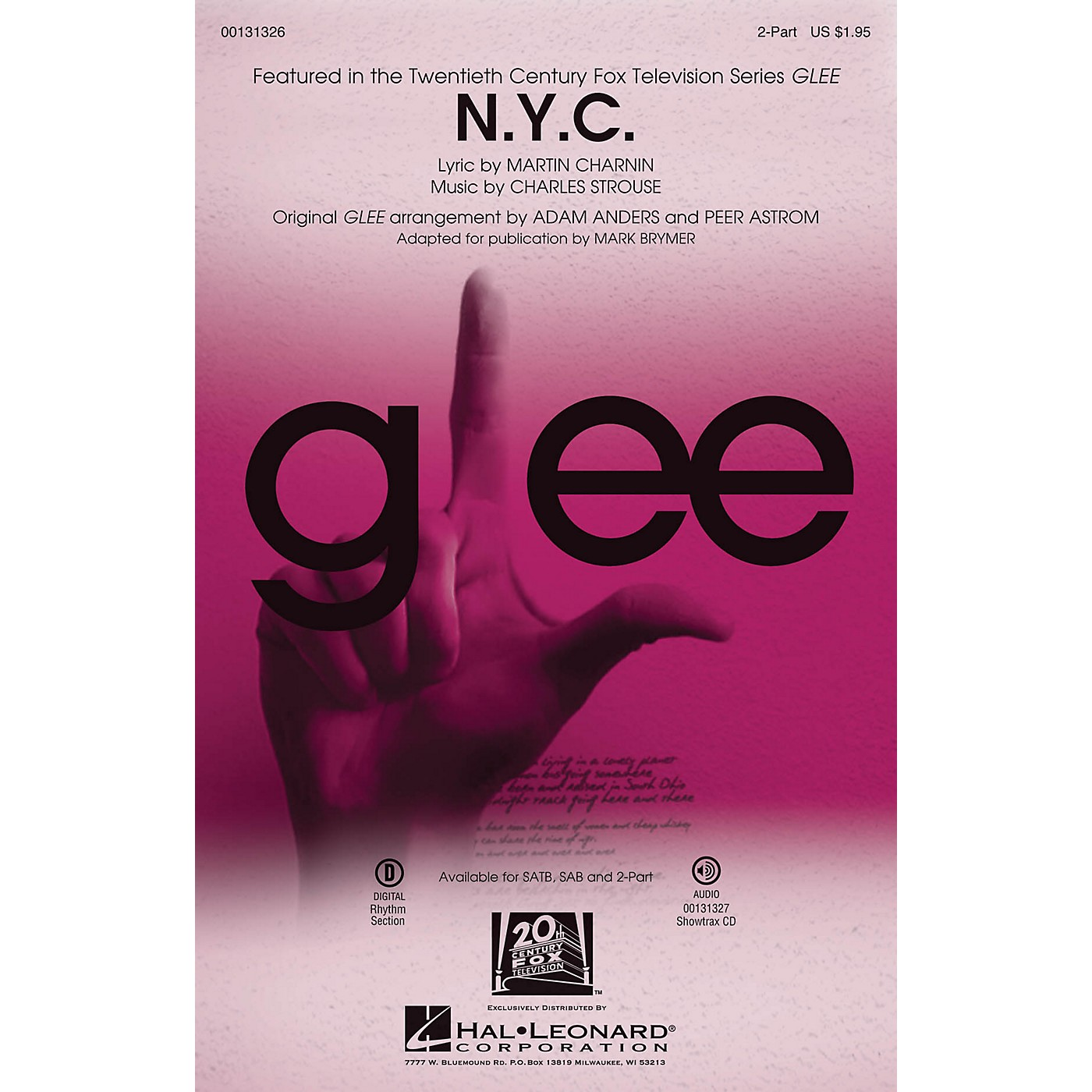 Hal Leonard N.Y.C. (from Annie) 2-Part by Glee Cast (TV Series) arranged by Mark Brymer thumbnail