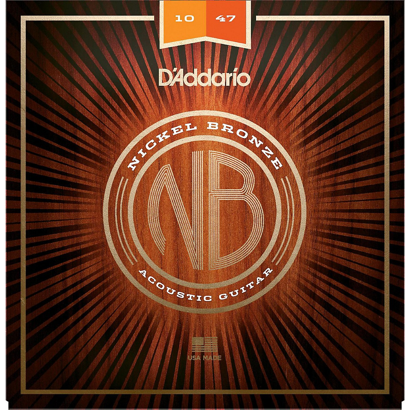 D'Addario NB1047 Nickel Bronze Extra Light Acoustic Guitar Strings thumbnail