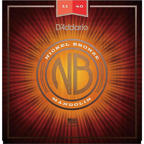 D'Addario NBM1140 Nickel Bronze Medium Mandolin Strings (11-40) thumbnail