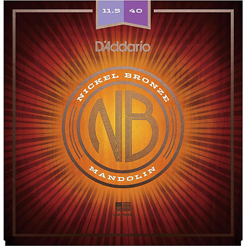 D'Addario NBM11540 Nickel Bronze Custom Medium Mandolin Strings (11.5-40) thumbnail