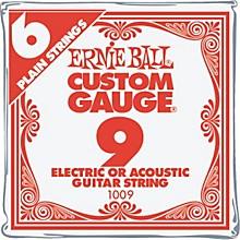 Ernie Ball NCKL Plain Single Guitar String .010 Gauge 6-Pack