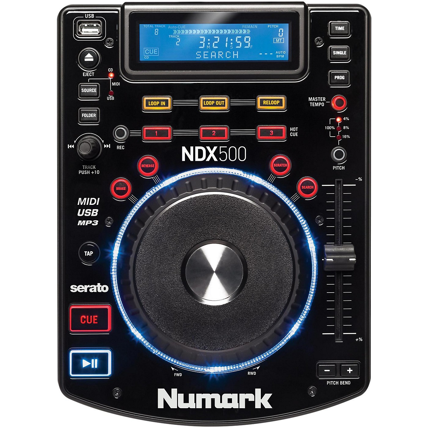 Numark NDX500 USB/CD Media Player and Software Controller thumbnail
