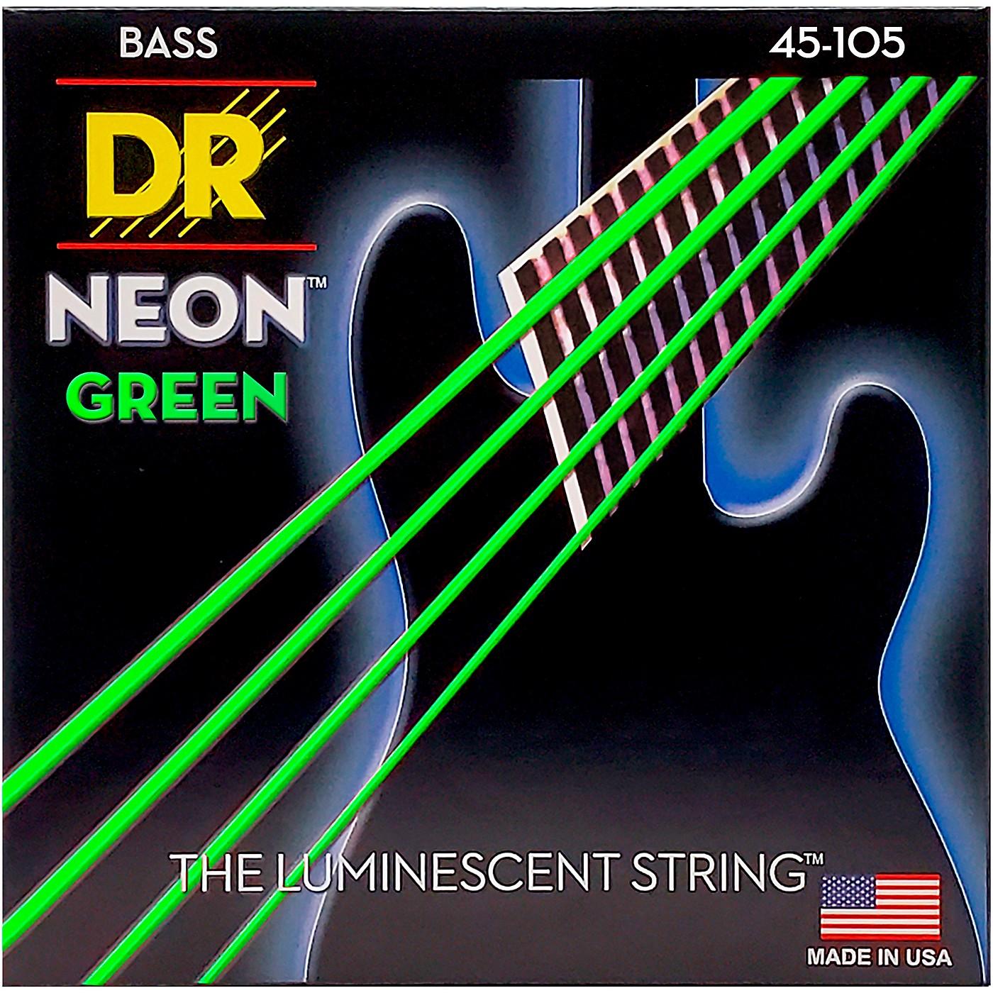 DR Strings NEON Hi-Def Green Bass SuperStrings Medium 4-String thumbnail
