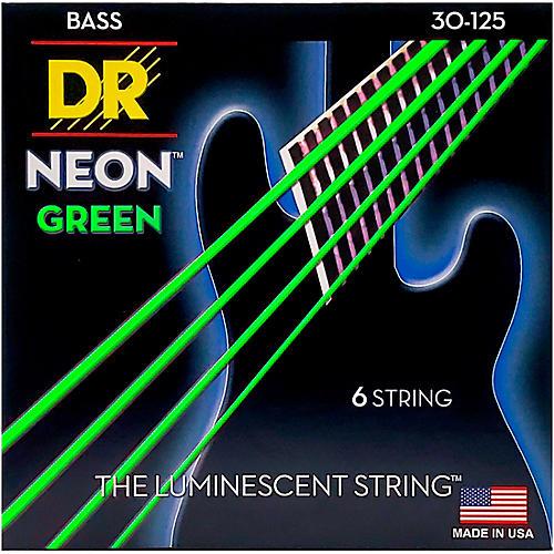 DR Strings NEON Hi-Def Green Bass SuperStrings Medium 6-String thumbnail