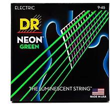 DR Strings NEON Hi-Def Green SuperStrings Light Top Heavy Bottom Electric Guitar Strings
