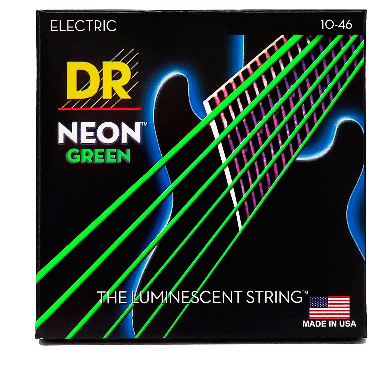 DR Strings NEON Hi-Def Green SuperStrings Medium Electric Guitar Strings thumbnail