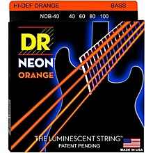 DR Strings NEON Hi-Def Orange Bass SuperStrings Light 4-String