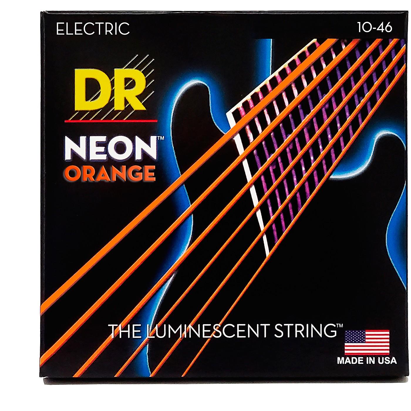 DR Strings NEON Hi-Def Orange SuperStrings Medium Electric Guitar Strings thumbnail
