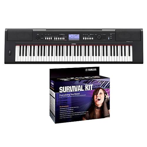 Yamaha NPV60 76-Key Piaggero Portable Digital Pianowith Yamaha D2 Survival Kit thumbnail